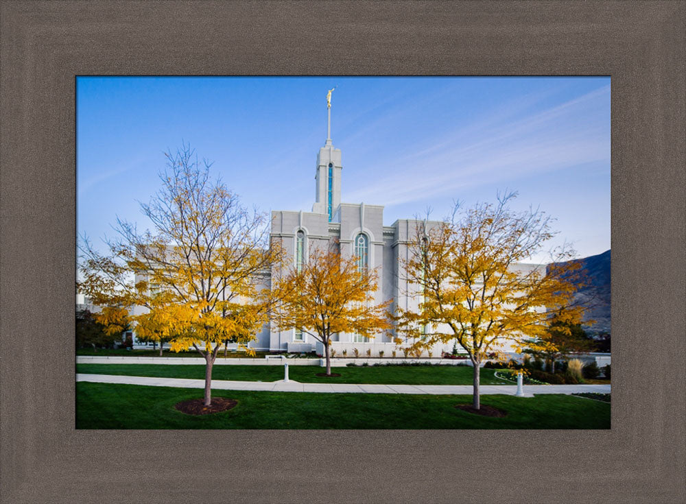 Mt Timpanogos Temple - Fall Trees by Scott Jarvie