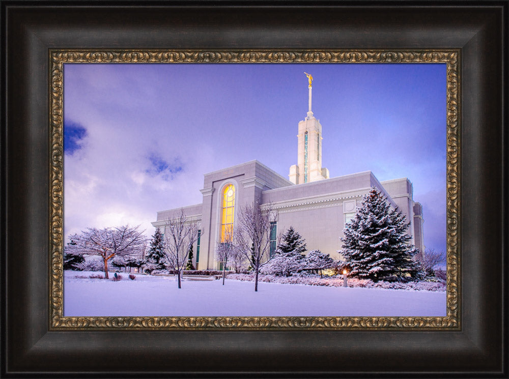 Mt Timpanogos Temple - After a Snowstorm by Scott Jarvie