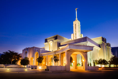 Mt Timpanogos Temple - At Twilight by Scott Jarvie