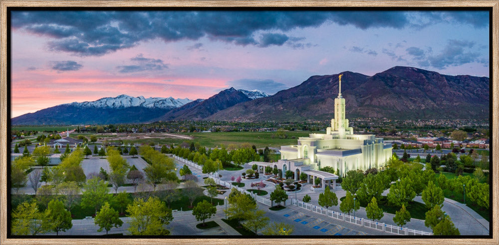 Mt Timpanogos Temple - Nestled in the Mountains by Scott Jarvie