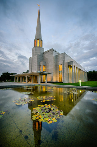 Preston Temple - Morning Reflection by Scott Jarvie