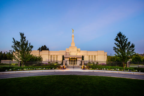 Spokane Temple - Gates by Scott Jarvie