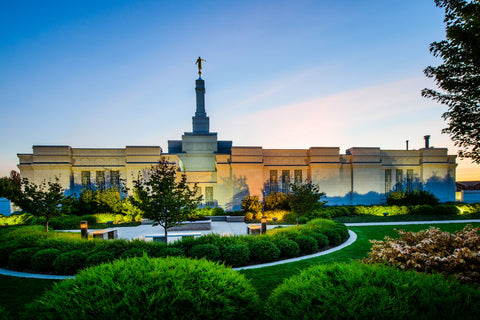 Spokane Temple - Garden Courtyard by Scott Jarvie