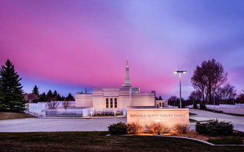 Bismarck Temple - Pink Evening by Scott Jarvie