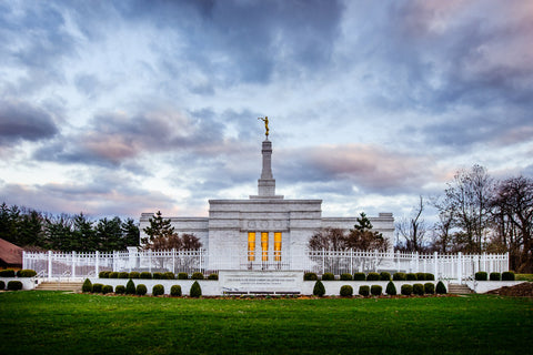 Louisville Temple - Sunset by Scott Jarvie