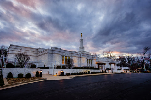 Louisville Temple - Clouded Evening by Scott Jarvie