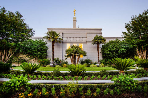 Fresno Temple - Garden View by Scott Jarvie