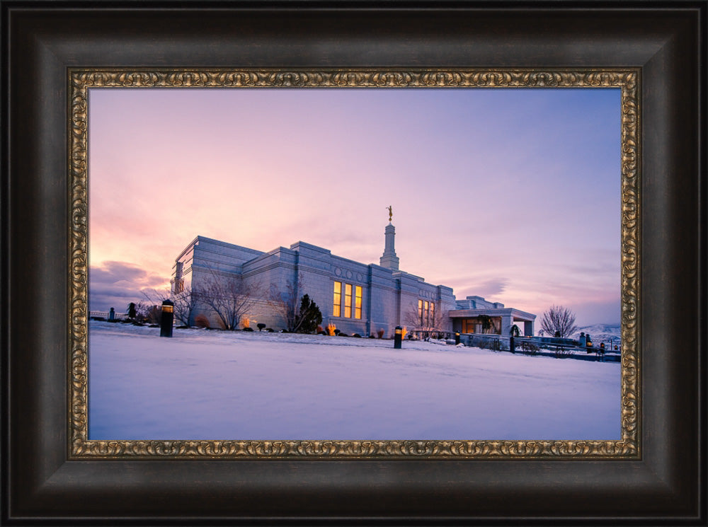 Reno Temple - Snow Sunrise by Scott Jarvie
