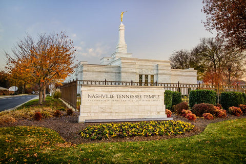 Nashville Temple - Sign in Fall by Scott Jarvie