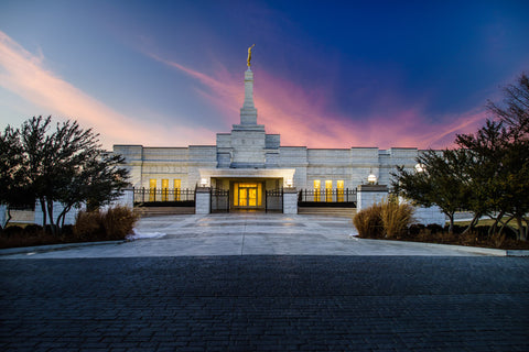 Oklahoma City Temple - Sunset Clouds by Scott Jarvie