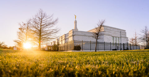 Oklahoma City Temple - Setting Sun by Scott Jarvie