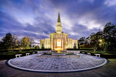Houston Temple - Circle Courtyard by Scott Jarvie