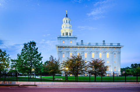 Nauvoo Temple - All Lit Up by Scott Jarvie
