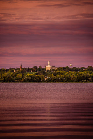 Nauvoo Temple - Across the Mississippi by Scott Jarvie