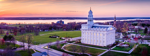 Nauvoo Temple - Mississippi Sunset by Scott Jarvie