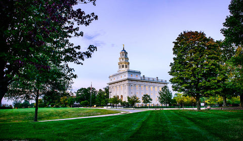 Nauvoo Temple - Fall Beginning by Scott Jarvie