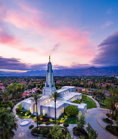 Redlands Temple - Cool Skies by Scott Jarvie