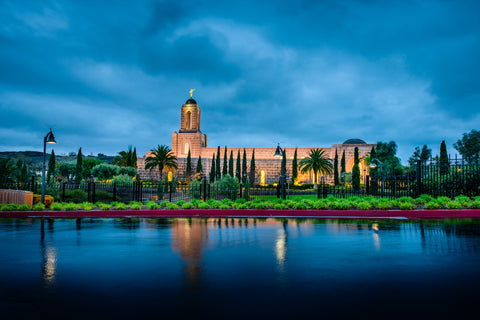 Newport Beach Temple - After Morning Rain Storm by Scott Jarvie