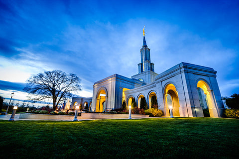 Sacramento Temple - Sunset Corner by Scott Jarvie