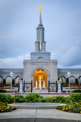 Sacramento Temple - Front Vertical by Scott Jarvie