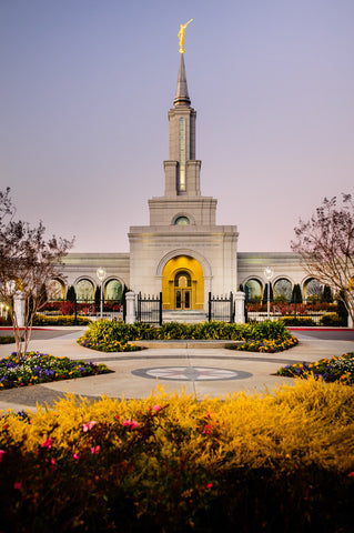 Sacramento Temple - Fall Garden by Scott Jarvie