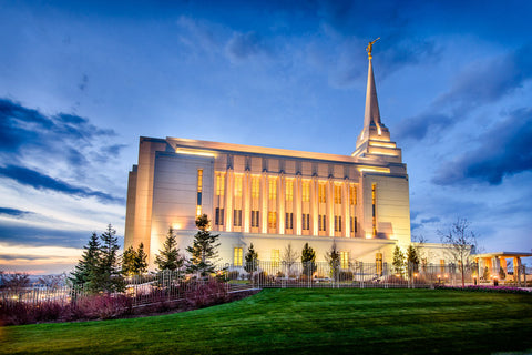 Rexburg Temple - Twilight from the Side by Scott Jarvie