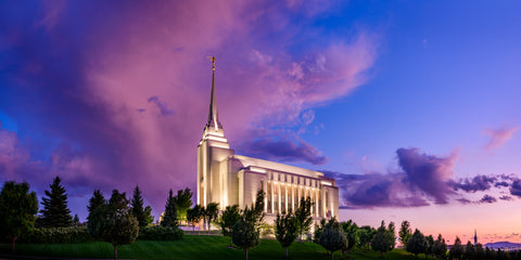 Rexburg Temple - Purple Clouds by Scott Jarvie