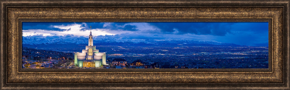 Draper Temple - Above the Fray Panorama by Scott Jarvie