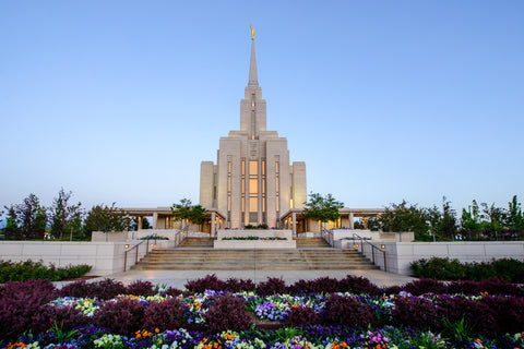 Oquirrh Mountain Temple - Garden Steps by Scott Jarvie