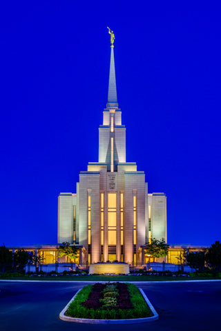 Oquirrh Mountain Temple - From the Front by Scott Jarvie