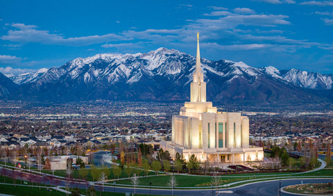 Oquirrh Mountain Temple - A Valley of Faith by Scott Jarvie