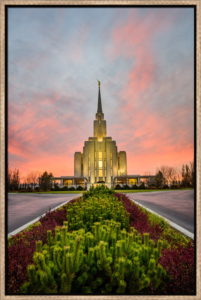 Oquirrh Mountain Temple - Garden Symmetry by Scott Jarvie