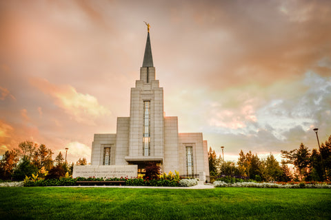 Vancouver Temple - Sunset by Scott Jarvie