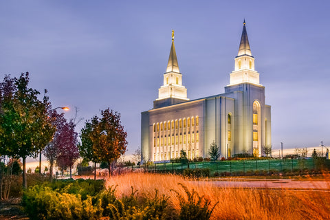 Kansas City Temple - Colorful Morning by Scott Jarvie