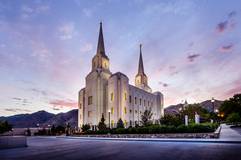 Brigham City Temple - Morning Rays by Scott Jarvie