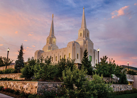 Brigham City Temple - Garden View 5x7 print