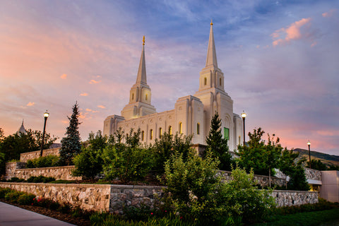 Brigham City Temple - Garden View by Scott Jarvie