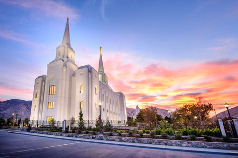 Brigham City Temple - Cloudy Sunrise by Scott Jarvie