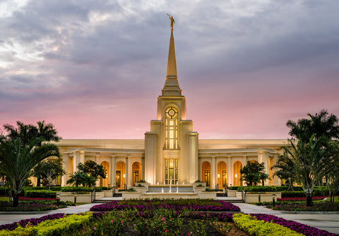 Fort Lauderdale Temple - Red Skies by Scott Jarvie