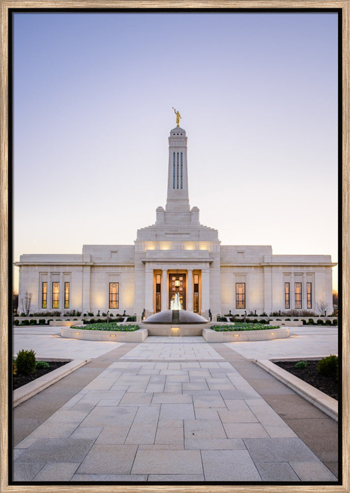 Indianapolis Temple - The Way to the Temple by Scott Jarvie