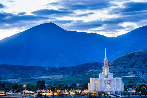 Payson Temple - Evening Hills by Scott Jarvie