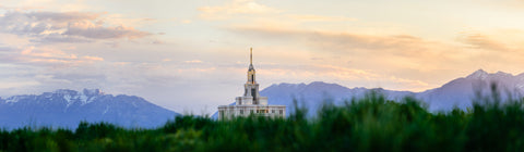 Payson Temple - Mountain Panorama by Scott Jarvie