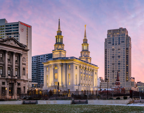 Philadelphia Temple - Evening View by Scott Jarvie