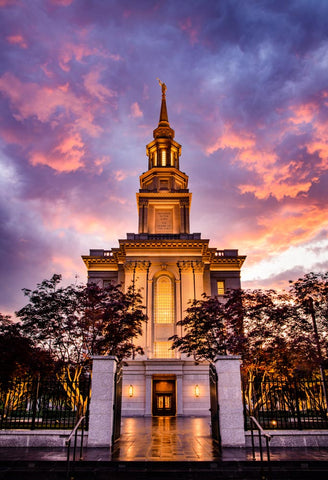 Philadephia Temple - Sunset Gates by Scott Jarvie