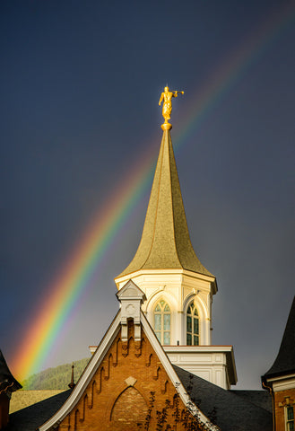 Angel Moroni and the Rainbow