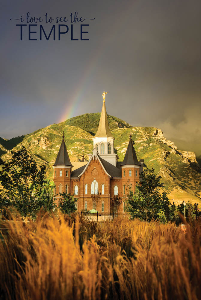 Provo City Center Temple - Golden Sunset 12x18  repositionable poster
