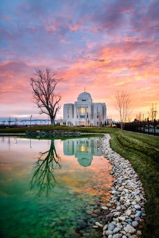Meridian Temple - Evening Reflection by Scott Jarvie