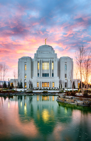 Meridian Temple - Vertical Reflection by Scott Jarvie