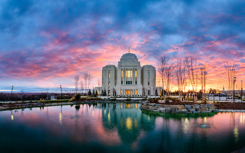 Meridian Temple - Colorful Sunset by Scott Jarvie