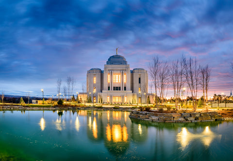 Meridian Temple - Blue Reflection by Scott Jarvie